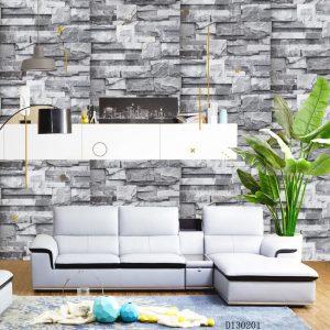 Brick layered greyish D130201 wallpaper