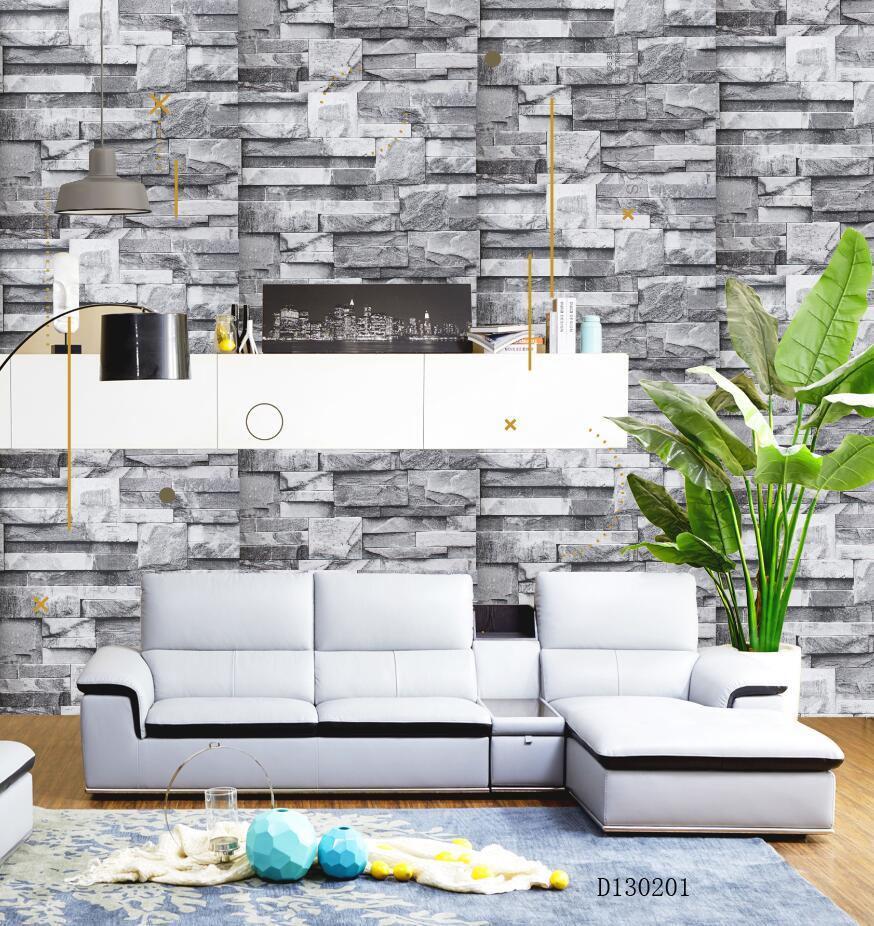 Brick layered greyish D130201 wallpaper ...