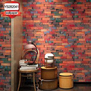 Brown brick 3D YS282041 wallpaper