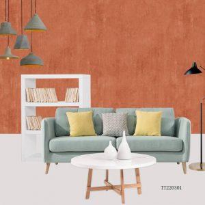 Clay look living room TT220301 wallpaper