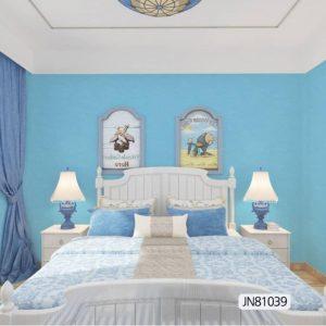 Elegant blue bedroom  JN81039 wallpaper