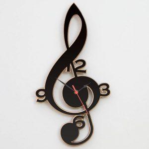 Lp record g clef clock