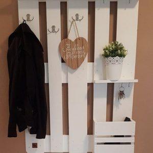 Coat rack white 3 hooks