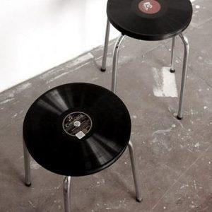 LP record stools