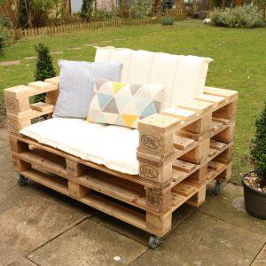 Pallet armchair seat