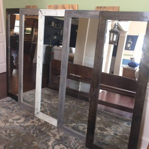 Full-length rustic mirror wall hang
