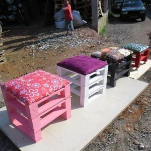 Pallet cushioned stool