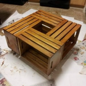 Crate coffee table rustic