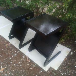 Z shaped side stool