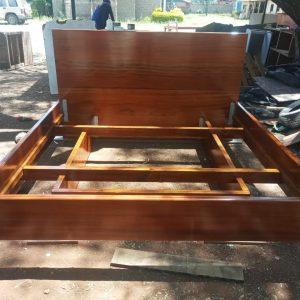 Mahogany Floating Bed